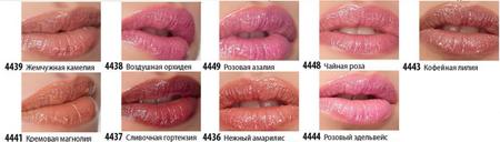 палитра оттенков Блеск для губ Цветочный Рай