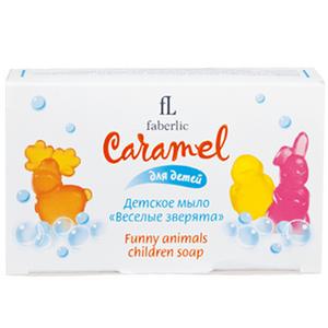 Мыло детское Веселые зверята серии Caramel