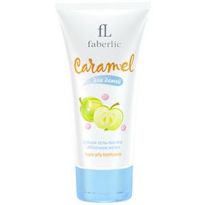 Зубная гель-паста Яблочное желе Faberlic Caramel для детей